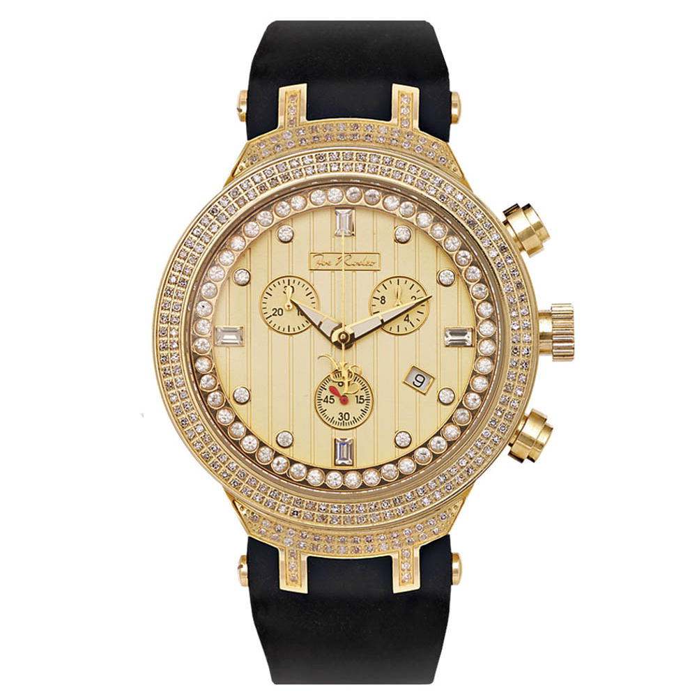 Yellow Gold Tone Watches: Joe Rodeo Mens Diamond Watch 2.20ct Master  Main Image