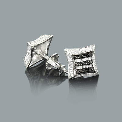 Zebra Print Silver Earrings with Diamonds 0.12ct Zebra Print Silver Earrings with Diamonds 0.12ct