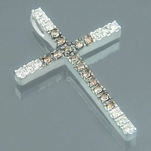 14k-gold-clear-and-brown-diamond-cross-pendant-086ct-p-6564