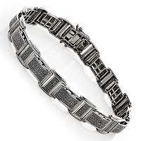 Get Your Man Accessorized with Contemporary-Styled Men's Diamond Bracelets from ItsHot.com