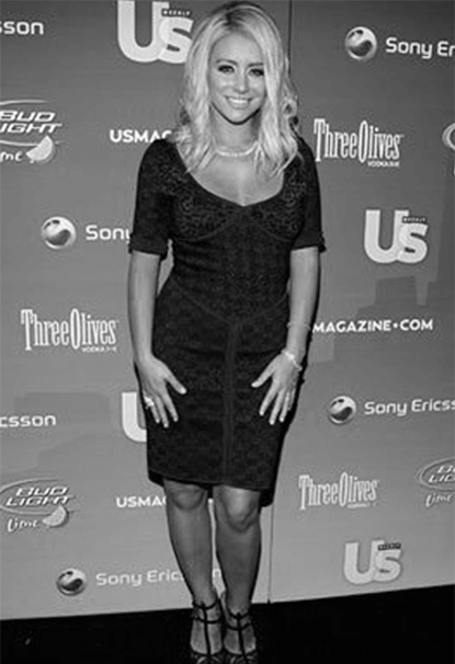 Aubrey O'Day of Danity Kane on the red carpet with Luccello Jewelry