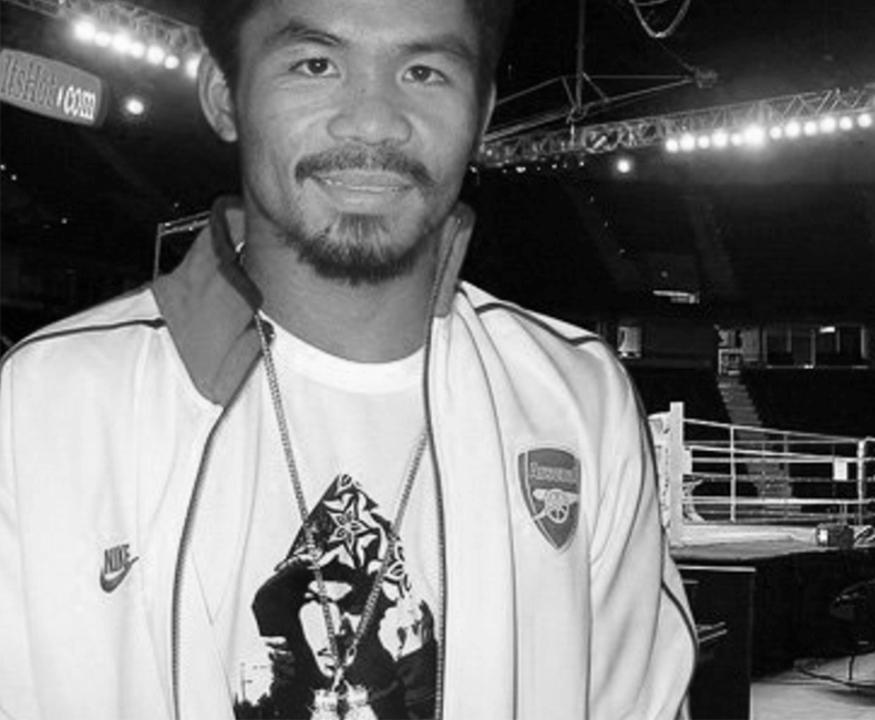 Champion Manny Pacman Pacquiao Takes Home A Diamond Boxing Glove Trophy