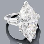 platinum marquise diamond engagement ring