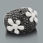 designer diamond flower ring